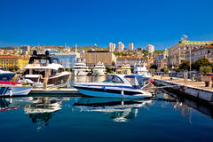 City of Rijeka yachting waterfront view. Kvarner bay, Croatia stock photo