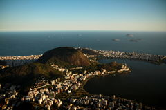 City of Rio de Janeiro from Corcovado. Photo taken during sightseeing on Corcovado mountain in Rio de Janeiro, Brazil Royalty Free Stock Photos