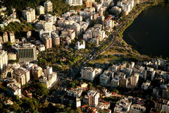 City of Rio de Janeiro from Corcovado Royalty Free Stock Images