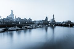 City River Dresden Germany Stock Photography