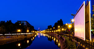 City River at Night Royalty Free Stock Images