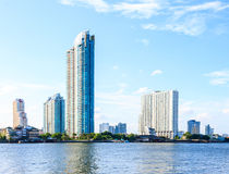 City and river scenery. Bangkok, Thailand Royalty Free Stock Images