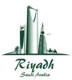 City of Riyadh Saudi Arabia Famous Buildings. Editable Vector Illustration royalty free illustration