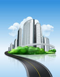 City and road. Computer illustration vector illustration