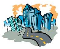 City Road royalty-vrije illustratie