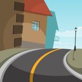 City Road Fotografie Stock