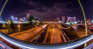 City Road bij Nacht Motionlapse 4k stock footage