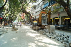 City road construction, in Shenzhen, China Royalty Free Stock Photography