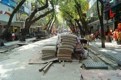 City road construction, in Shenzhen, China Stock Photo