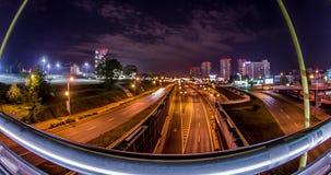 City Road en la noche Motionlapse 4k metrajes