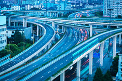 City road interchange royalty free stock photos