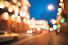 City road motion blur. Night background. Bokeh effect. Flashing lights. Motion on street royalty free stock image