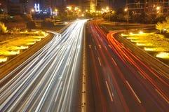 City road at night Stock Photography