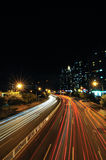 City road at night Stock Photography