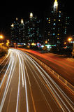 City road at night Royalty Free Stock Photography