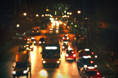 City road at night Stock Photos