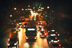 City road at night stock photos