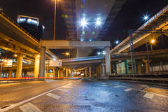 City Road overpass at night Stock Image