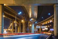 City Road overpass at night Royalty Free Stock Image