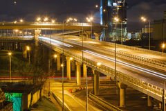 City Road overpass at night Royalty Free Stock Photos
