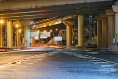 City Road overpass at night Stock Photography