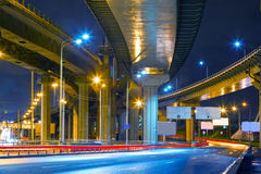 City Road overpass at night Royalty Free Stock Photo