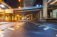 City Road overpass at night Stock Photos