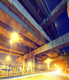 City Road overpass at night with lights Royalty Free Stock Image
