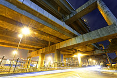 City Road overpass at night with lights Stock Image