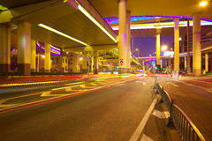 City road overpass viaduct bridge of night scene Royalty Free Stock Photography