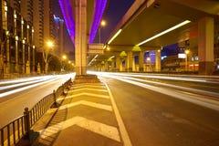City road overpass viaduct bridge of night scene Royalty Free Stock Image