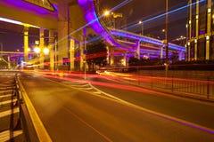 City road overpass viaduct bridge of night scene Stock Image