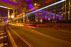 City road overpass viaduct bridge of night scene Royalty Free Stock Photos