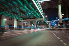City road overpass viaduct bridge of night scene Royalty Free Stock Photo