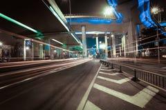 City road overpass viaduct bridge of night scene Royalty Free Stock Images