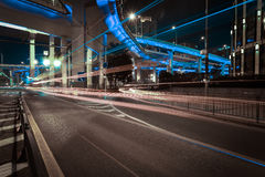 City road overpass viaduct bridge of night scene Stock Photography