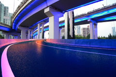 City road overpass viaduct bridge of night scene Stock Photos