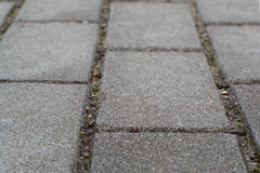 City road from paving stones Royalty Free Stock Photo