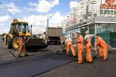 City road repair stock images