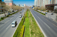 City road in spring Stock Image