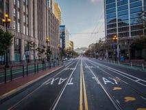 City Road till kullarna Fotografering för Bildbyråer