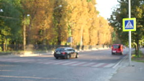 City road traffic stock video footage