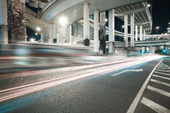City road viaduct night of night scene Royalty Free Stock Photo