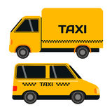 City road yellow taxi transport vector illustration. Stock Photography