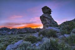 City of Rock Sunset Stock Image
