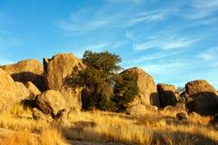 City of rocks-9. Landscape shot of volcanic rock formations Stock Photos