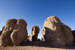 City of Rocks. Large sculptured rock formation, City of Rocks State Park, NM Royalty Free Stock Image