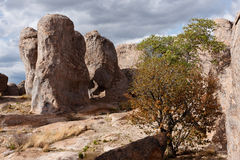 City of Rocks, New Mexico. A former volcanic area from 30 million years ago stock photos