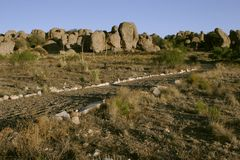 City of Rocks State Park. View of Volcanic Rock Formations at City of Rocks State Park in Faywood, New Mexico, USA royalty free stock photo