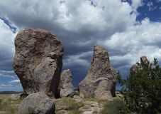 City of Rocks State Park, New Mexico Stock Image